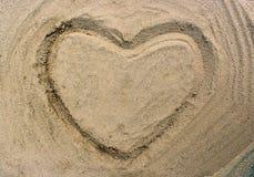 拉长的重点沙子 免版税库存照片