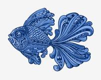 拉长的鱼现有量 种族模式 也corel凹道例证向量 向量例证