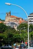 拉雷多,坎塔布里亚,西班牙;07-23-2010:拉雷多渔镇的图象  免版税库存图片