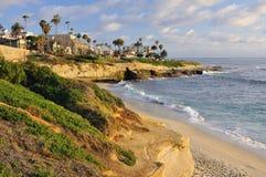 拉霍亚小海湾,加利福尼亚海岸  免版税库存图片