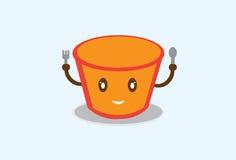 拉面杯子ilustration 库存图片