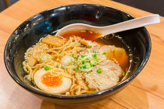拉面Shoyu日本食物样式3 免版税库存照片