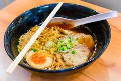 拉面Shoyu日本食物样式 免版税图库摄影