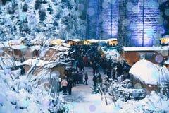 拉韦纳峡谷,德国- 2017年12月3日:传统圣诞节 免版税库存照片