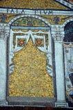 拉韦纳,意大利-从联合国科教文组织的1500 8月18日, 2015年-岁拜占庭式的马赛克在拉韦纳, I列出了圣徒Vitalis大教堂  免版税库存图片