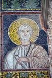 拉韦纳,意大利-从联合国科教文组织的1500 8月18日, 2015年-岁拜占庭式的马赛克在拉韦纳, I列出了圣徒Vitalis大教堂  免版税库存照片
