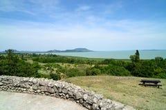 巴拉顿湖风景 免版税库存照片