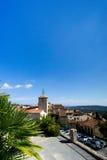 拉马蒂埃尔法国村庄, Var的法国海滨的,在法国南部 免版税库存照片