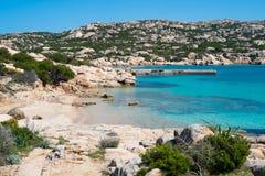 拉马达莱纳海岛,撒丁岛,意大利 库存照片