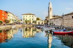 拉齐塞Lago di加尔达维罗纳威尼托意大利 免版税图库摄影