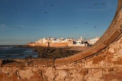 索维拉,沿海城市在摩洛哥 免版税库存图片