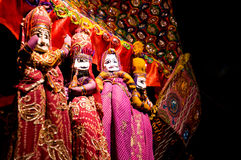 拉贾斯坦印度的串木偶 免版税库存照片