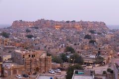 拉贾斯坦状态的,印度Jaisalmer市 免版税库存照片