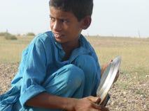 拉贾斯坦男孩 库存照片