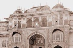 拉贾斯坦的阿梅尔堡垒 库存图片