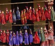 拉贾斯坦,印度的印地安手工制造串木偶 免版税库存照片