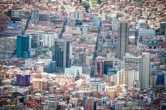 拉巴斯,玻利维亚都市风景  库存照片