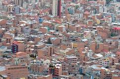 拉巴斯,玻利维亚都市风景  免版税库存图片
