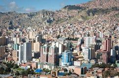 拉巴斯,玻利维亚都市风景  免版税库存照片