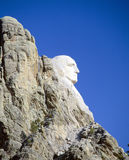 拉什莫尔山的,南达科他乔治・华盛顿 免版税库存图片