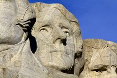 拉什莫尔山纪念碑,杰斐逊 库存照片