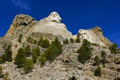 拉什莫尔山,纪念碑,唯一角度 免版税库存照片