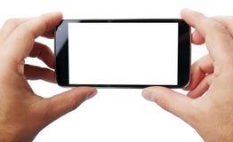 拍与手机的照片 库存照片