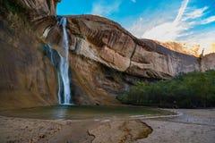 拍小牛小河的照片女孩跌倒,小牛小河峡谷, 图库摄影