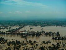 拍打谷,巴基斯坦洪水 图库摄影