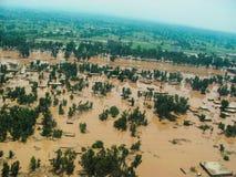 拍打谷,巴基斯坦洪水 免版税库存图片