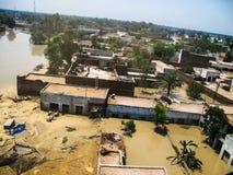 拍打谷,巴基斯坦洪水 库存图片