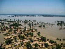 拍打谷,巴基斯坦洪水 免版税图库摄影