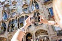 拍摄大厦在巴塞罗那 库存图片