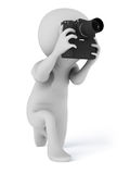 拍摄照片的摄影师照相机 免版税库存照片