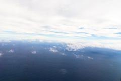 拍摄采取在海洋的云彩上 免版税库存图片