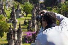 拍摄雕塑的公园 图库摄影