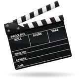 拍板图标电影 免版税库存图片