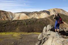 拍照片,冰岛 免版税库存照片