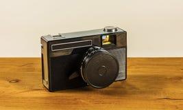 拍的照片老照相机在影片 免版税库存图片
