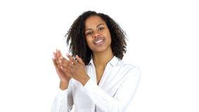 拍的黑人妇女,鼓掌 股票录像