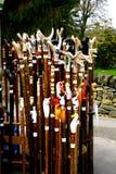 拐杖和弯曲处。 库存照片