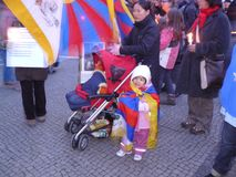 拒付难民西藏 免版税库存图片