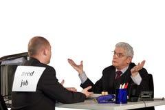 拒绝前辈的申请人经理 免版税图库摄影