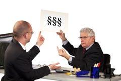 拒绝雇员的经理请求 免版税库存图片