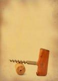拔塞螺旋葡萄酒 库存图片