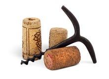 拔塞螺旋葡萄酒 免版税库存照片