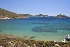 拔摩岛海岛,希腊 免版税库存照片