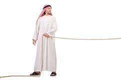 拔河概念的阿拉伯人 免版税库存图片