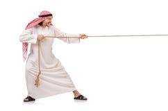 拔河概念的阿拉伯人 免版税图库摄影