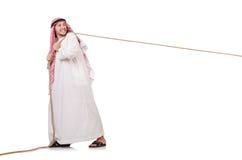拔河概念的阿拉伯人 库存图片
